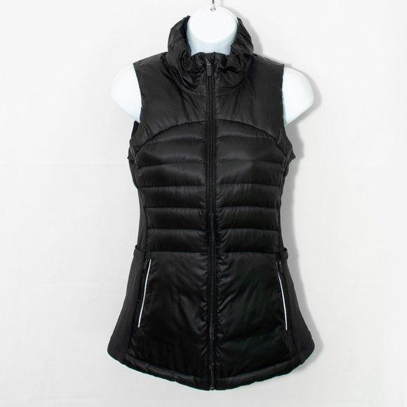 Lululemon Down For A Run Vest Black Goose 4 0211X
